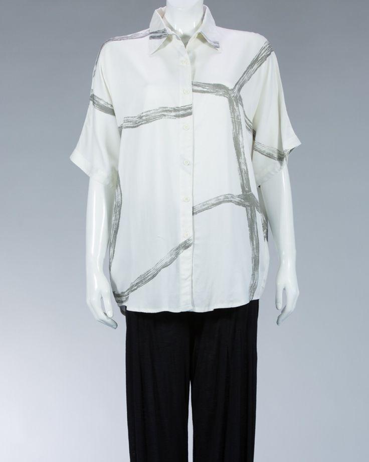 Animale ladies shirt white #WomenSkirt #Dress #SummerFashion #Animale #WomenWear #WomenFashion #MotifClothes #LightClothes
