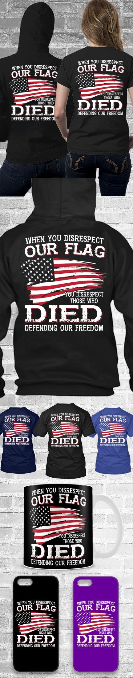 Respect Our Flag Shirts! Click The Image To Buy It Now or Tag Someone You Want To Buy This For.  #USA