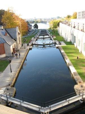 The Rideau Canal locks.