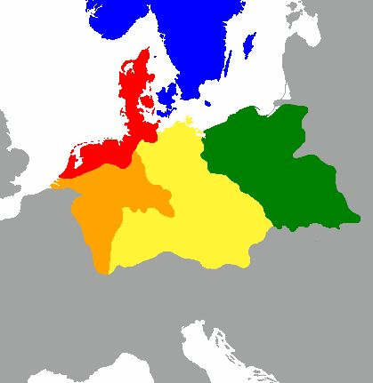 The distribution of the primary Germanic dialect groups in Europe in around AD 1: North Germanic North Sea Germanic, or Ingvaeonic Weser-Rhine Germanic, or Istvaeonic Elbe Germanic, or Irminonic East Germanic