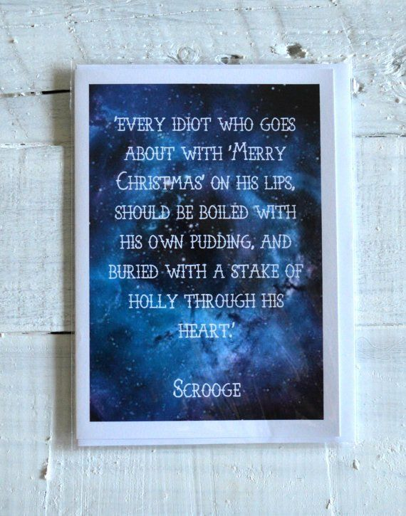 Christmas Carol - Christmas Card - Scrooge Quote - Literary Gift