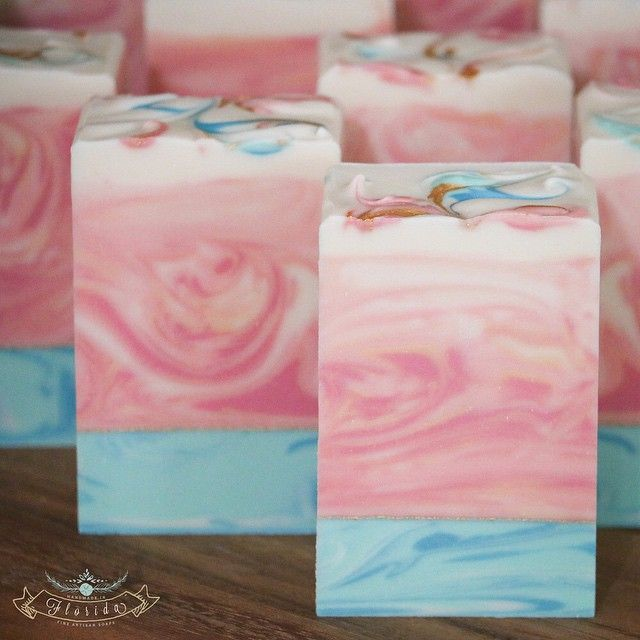 Summer Nights - cold-process soap. Winter soap with ITPS and gradient colors...darker on the bottom.
