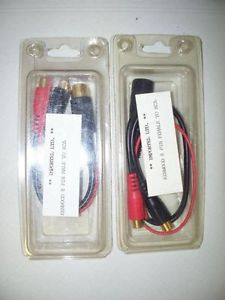 Vintage Kenwood DA6 & DA7 8 pin Female/male din adaptors to RCA brand new in the original packages.  Designed for First generation Kenwood Car Audio Products from the 1980s-90s.  Very rare and Hard to find! Only $50.