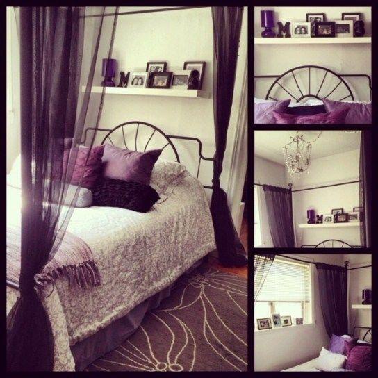 Best 10 Purple Black Bedroom Ideas On Pinterest