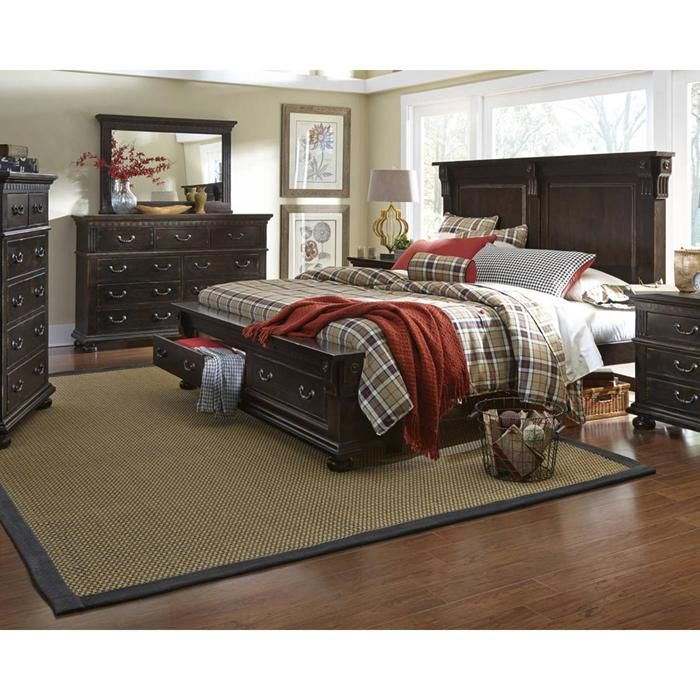la cantera 4piece king bedroom set in dark pine stain nebraska furniture mart