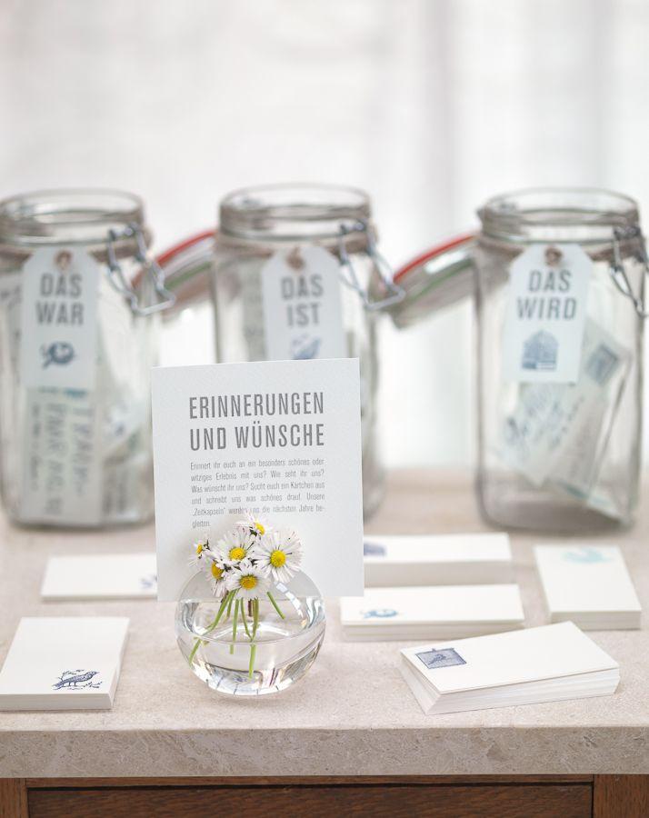 Erinnerungen und Wünsche - Oft wissen Gäste nicht, was sie in das Gästebuch eintragen sollen. Helfen Sie Ihren Gästen mit Themeninspirationen.