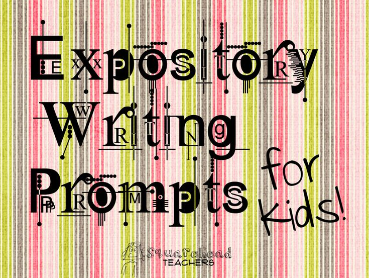 Expository Writing Prompts for Kids