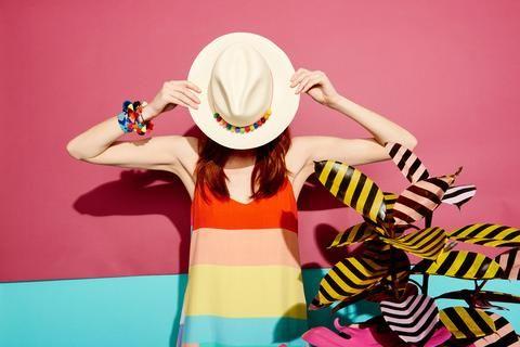 Pom Pom Panama Hat