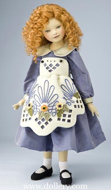 Beautiful felt dolls. I love the idea of cloth dolls but felt dolls....hmmm face is not so  washable.