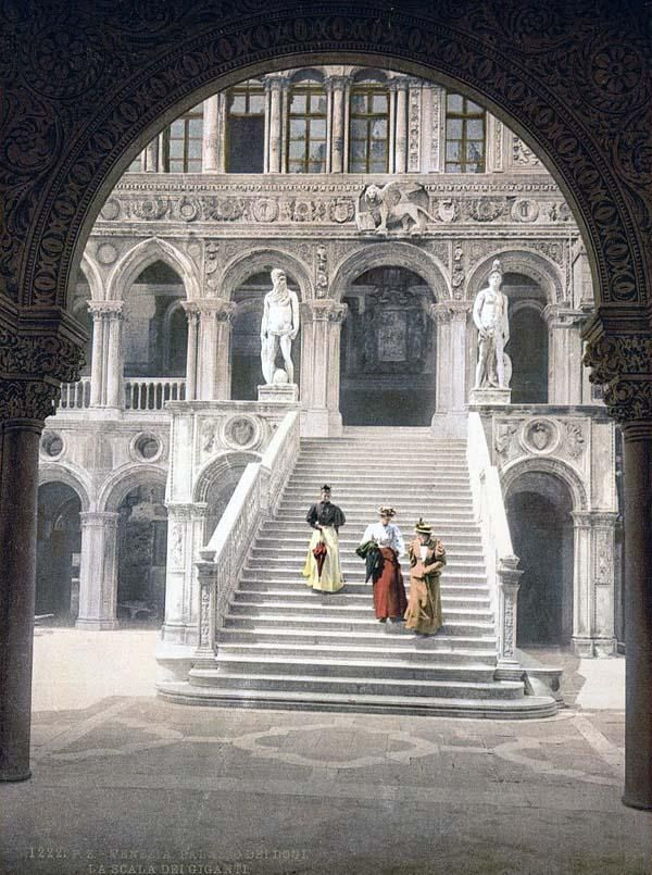 The Staircase of the Giants, Venice, Italy, between 1890 and 1900