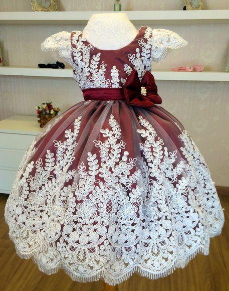 4653aff4f3 Compre Vestido de Princesa na Cor Marsala no Elo7 por R  446