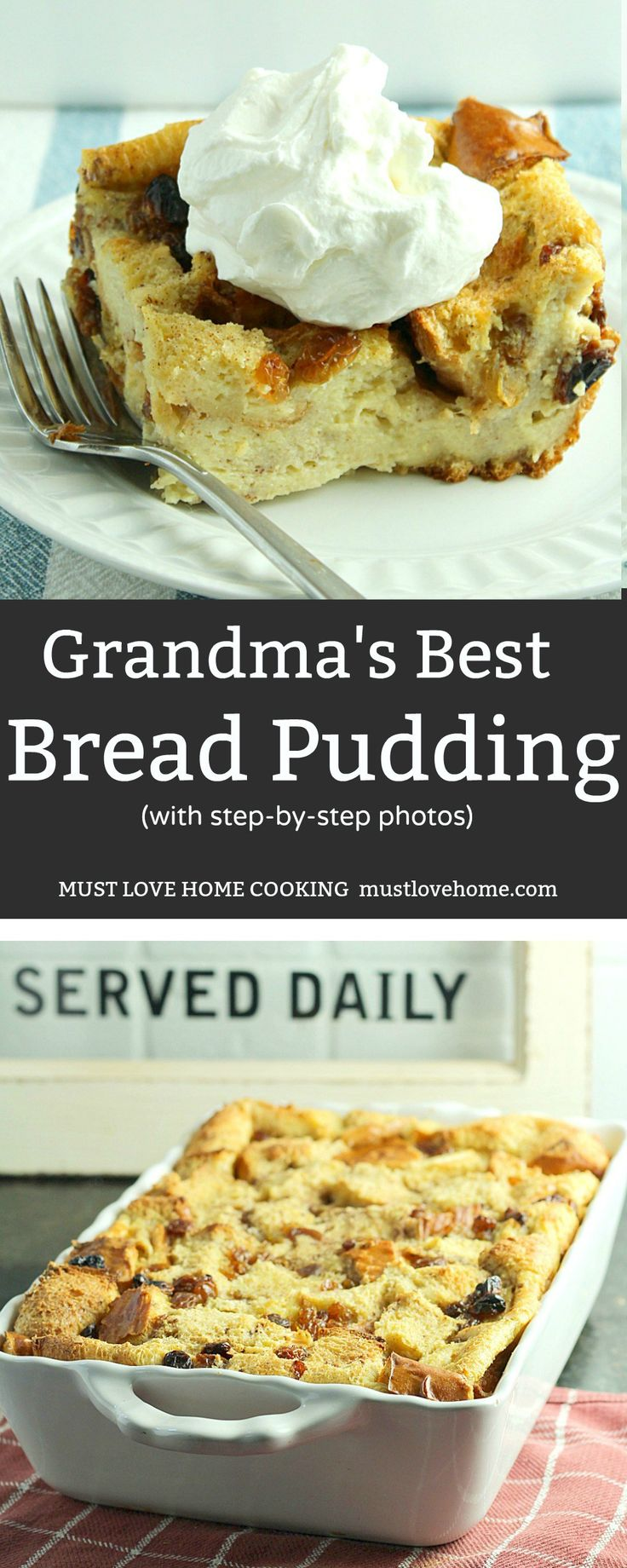 Grandma's Secret Recipe Bread Pudding is an easy to make traditional dessert sure to be a family favorite. Made with crusty bread and other simple ingredients, this is total comfort food! #dessert #food #recipes #cook #eeeats