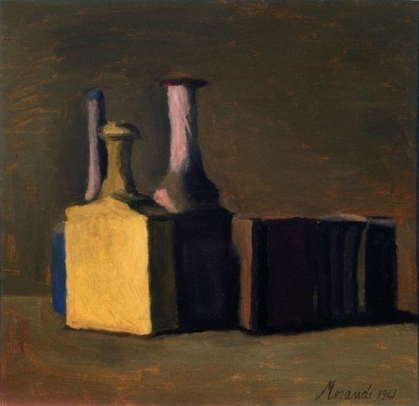 Giorgio Morandi,  Natura morta,  1941,  olio su tela, cm 44,5 x 46,5, Fondazione Domus per l'arte moderna e contemporanea