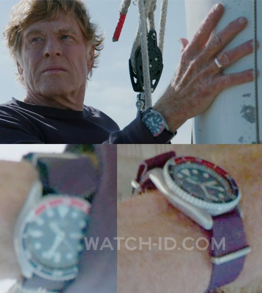 Robert Redford wears the Seiko with Pepsi bezel and navy NATO strap (image is enhanced so color might look different)