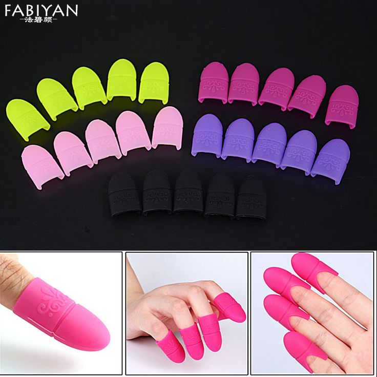 5pcs Nail Art Tips UV Gel Polish Remover Wrap Silicone Elastic Soak Off Cap Clip Manicure Cleaning Varnish Tool Reuseable Finger
