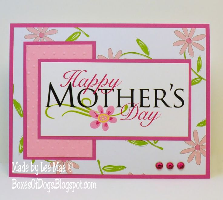 mothers day card operation write home | Mothers Day Card Using Paulas Digi