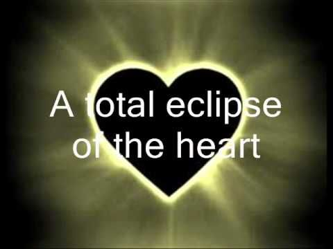"""MUSIC VIDEO: """"Total Eclipse Of The Heart"""" - by - Bonnie Tyler. - YouTube. (Every now and then, I get a little bit restless, and I dream of something wild. Your love is like a shadow on me, I'm always in the dark.)"""