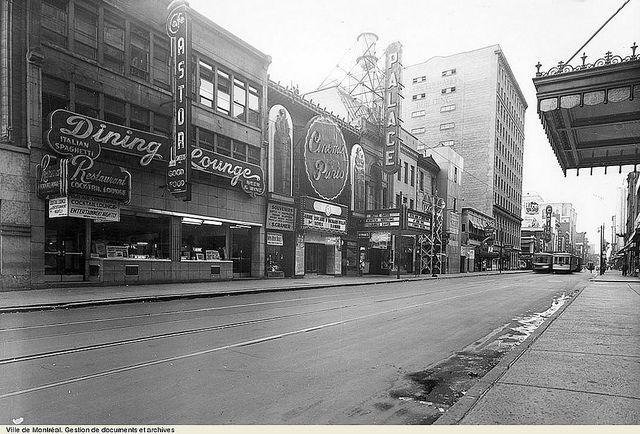 VM95-Y1-1-1/rue Sainte Catherine,Montréal.1948 by Le présent du passé Montréal., via Flickr