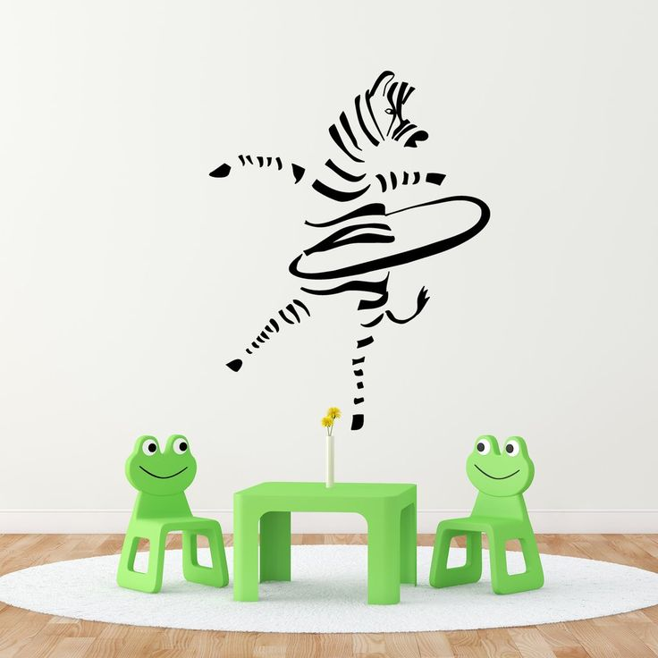 Hula-Hoop Zebra. Super fun collaboration with Kismet Decals. A selection of my illustrations are now available as wall stickers. Grab yours at: www.kismetdecals.com  #homeinspo #wallstickers #wallart #childrensroom #kidsroom #kidsroominspo #art #children #kids #fun #zebra #hulahoop