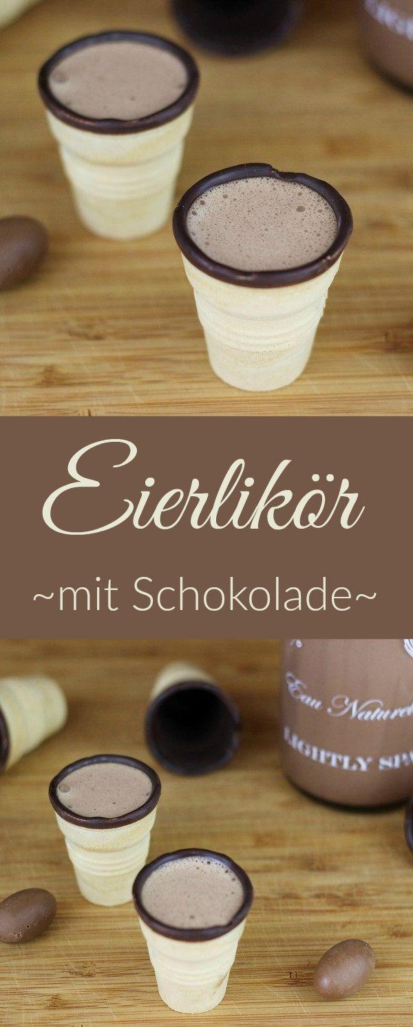 Rezept: Eierlikör mit Schokolade, zum Beispiel aus den Resten von Ostern. Schnell und einfach gemacht und auch super zum Verschenken.