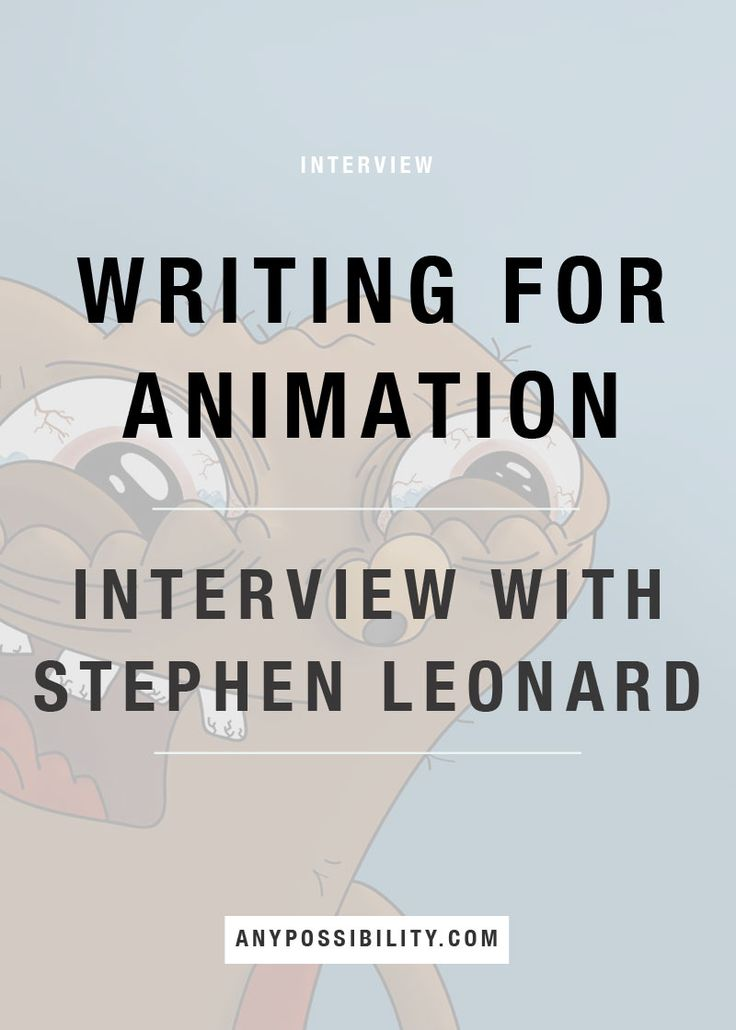 how to write script for animation film