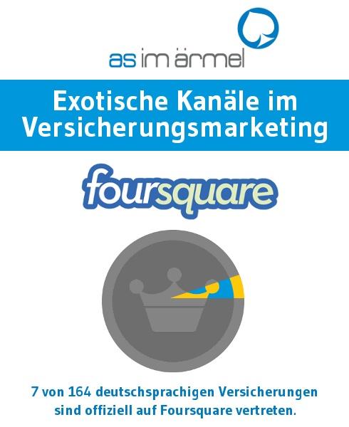 Exotisches Versicherungsmarketing: Foursquare | As im ÄrmelAs im Ärmel (aktueller Stand März 2013)