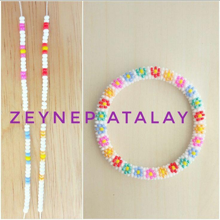 #zeynepatalay. Sandperlen häkeln Armband 6s. #bandswitches around6bracelet …   – Zeynep Atalay Bracelet