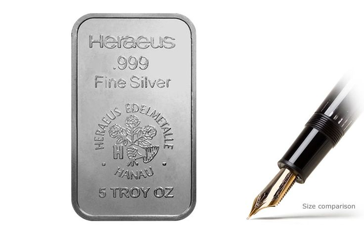 Kitco offers 5oz Silver Heraeus Bar at competitive silver prices. Buy silver coins, bars and silver bullion products online or call 1877 775-4826, 1514 313-9999