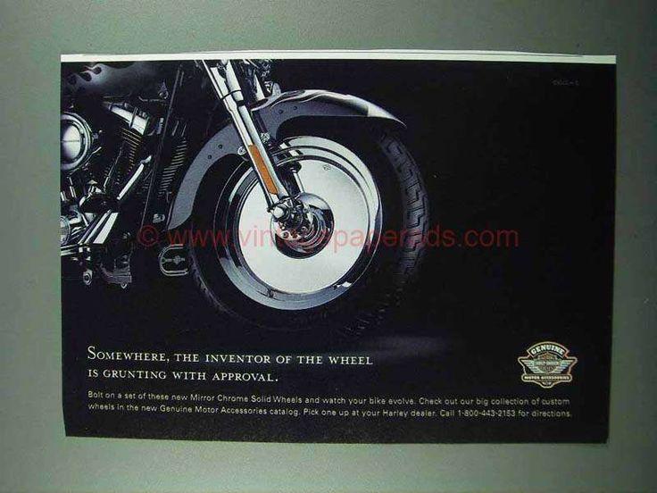 2004 Harley-Davidson Mirror Chrome Solid Wheels Ad