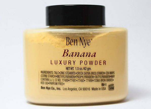 To Even Skin Tone  After all your other makeup, dust a yellow hue over your face to tone down any redness and brighten any stubborn blue under-eye shadows.  Ben Nye banana powder ($12)  Read more: 6 Hollywood Makeup Tricks You Can Do at Home | PureWow Los Angeles Sign Up For PureWow's Daily Email