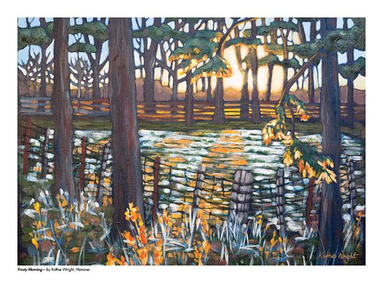 2015 Landscape Calendar | The Art Map Frosty Morning by Kathie Wright - November