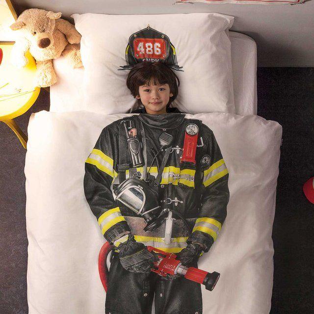 Une couette de lit «pompier», pour les grands enfants