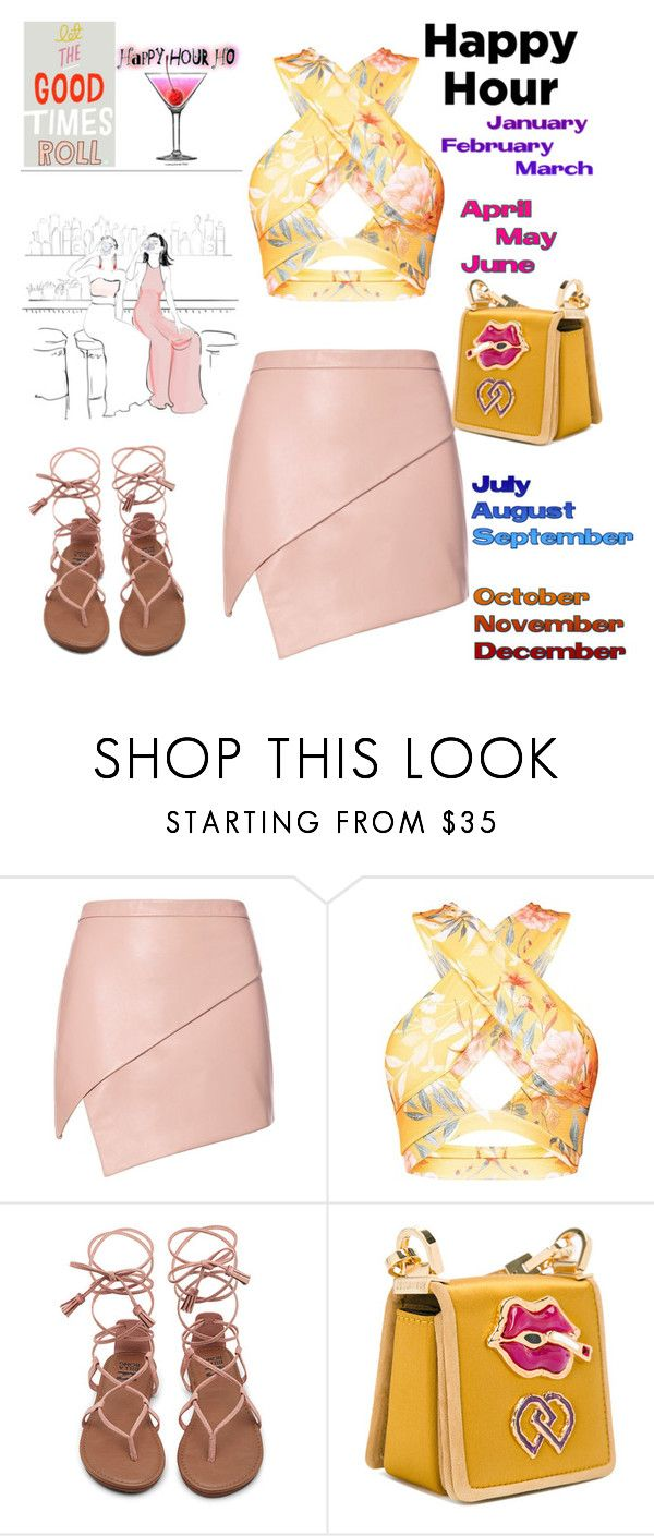 """""""Let the good times roll"""" by sparklemeetsclassic ❤ liked on Polyvore featuring Michelle Mason, Pink Martini and Dsquared2"""