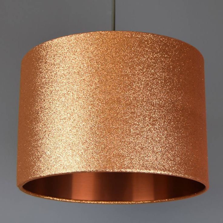 Copper Glitter Lampshade Glitter Or Metallic Lining