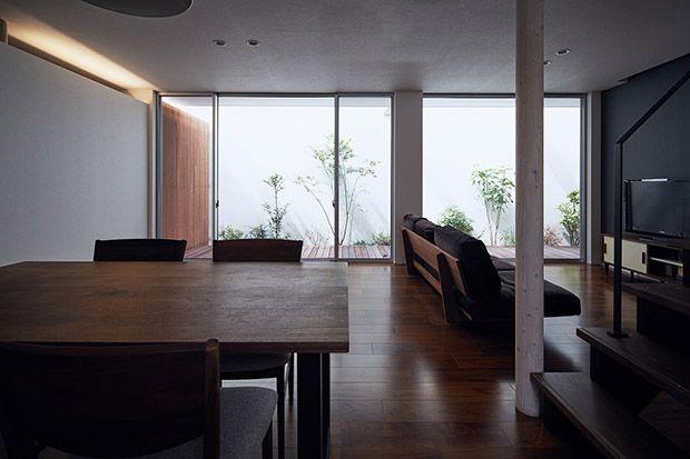 A型スリットからつづくコートハウス(中庭のある家・コートハウス) | 大阪の不動産、注文住宅なら富国ハウジング&KADeL