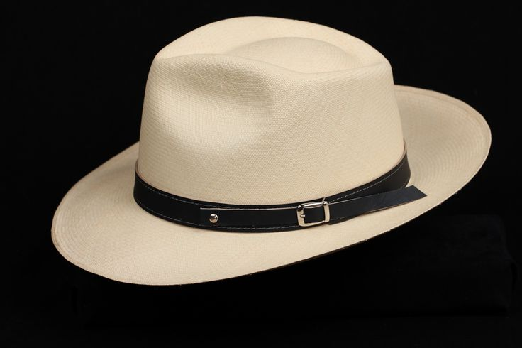 Navy 1 inch Leather hat band