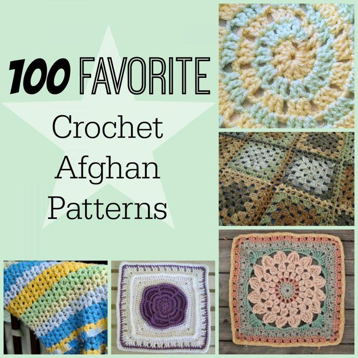 100 favoritos crochê padrões afegãos