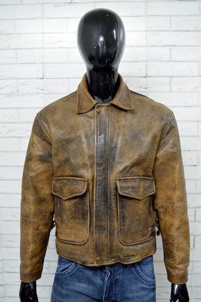 Taglia Vera 50 Giubbotto Jacket Giubbino Uomo Stile Pelle Fly qzCwXg