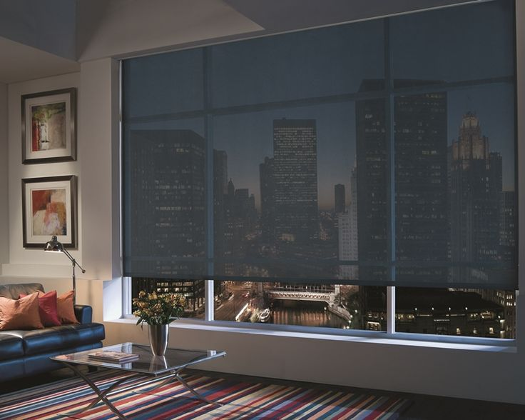Solar Shades - Engineered from mesh fabric which blocks UV rays and heat gain, Solar Shades enable you to view out easily while also providing privacy looking inward. Our interior designers will help guide you through the option to help find the correct color, optimal sheerness level and perfect valance top treatment.