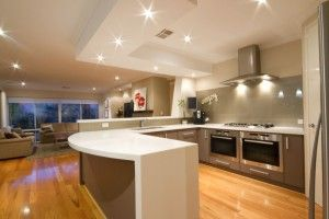 Blackbutt floors in kitchen