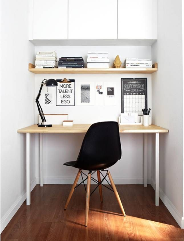 Find small home office desk ideas on domino. Domino shares small home office desk ideas for those who need to work from home but live in tiny apartments.
