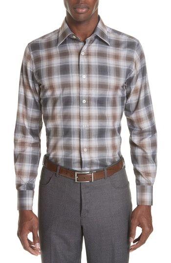 6b86ac51969 CANALI REGULAR FIT PLAID DRESS SHIRT.  canali  cloth
