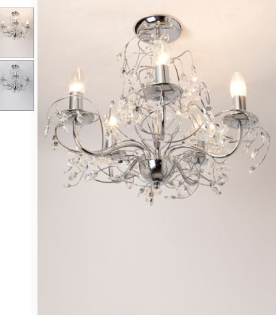 Mandalay 5 candle flush ceiling light by bhs