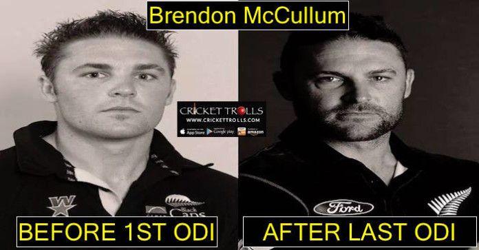 #NZvsAUS #ODI #BrendonMcCullum #ThankYouBazz   Brendon McCullum : Then & Now   http://www.crickettrolls.com/2016/02/10/brendon-mccullum-then-now/