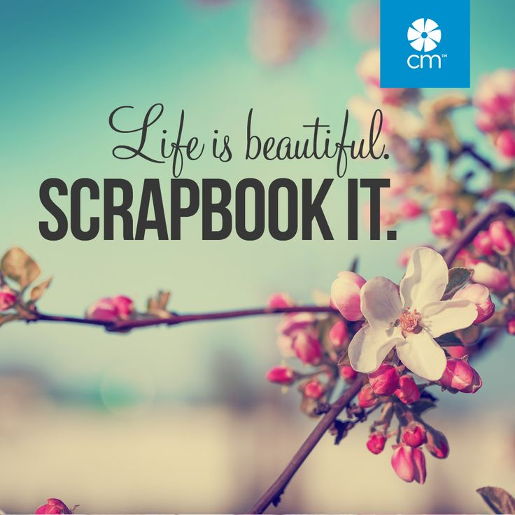 Life is beautiful. Scrapbook it. Join the fun here: http://ss1.us/a/4nARsrDU #CreativeMemories