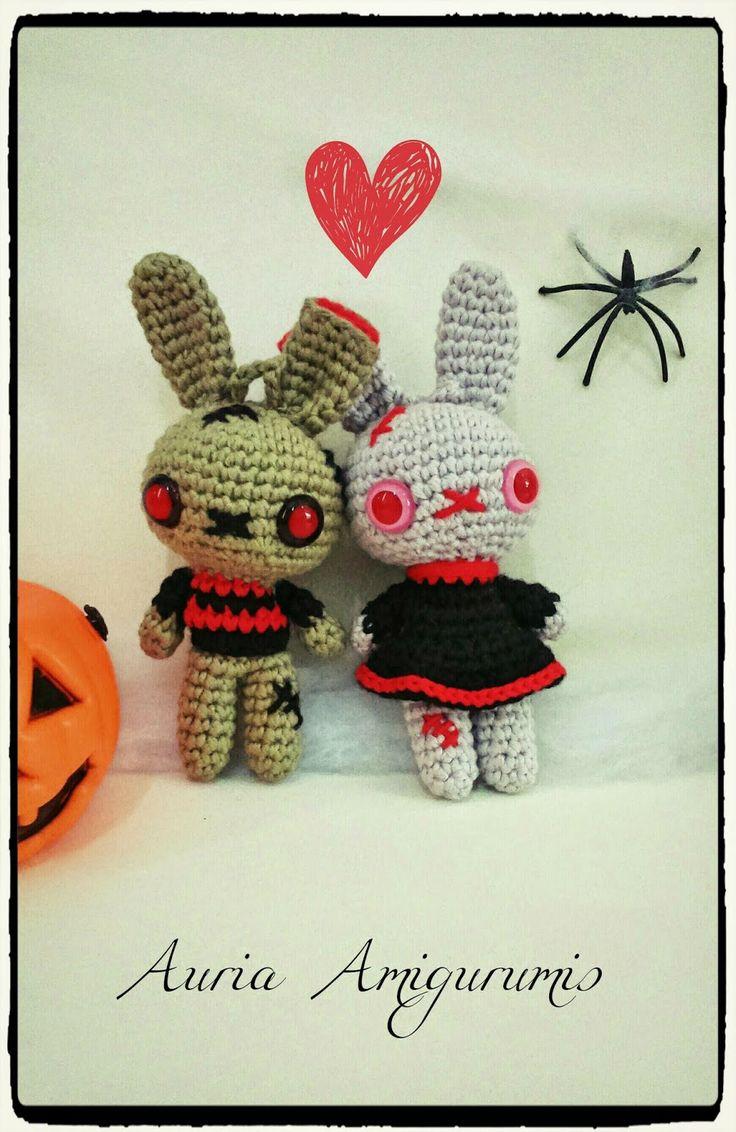 Patrón zombi-conejo