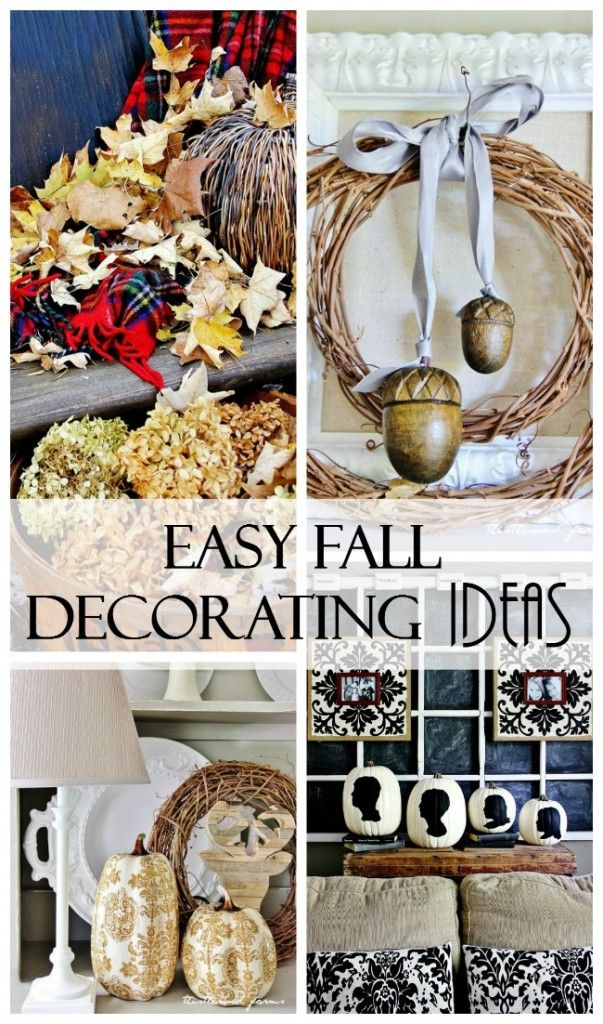 Fall Decorating Ideas and DIY's  (and a Thank You)