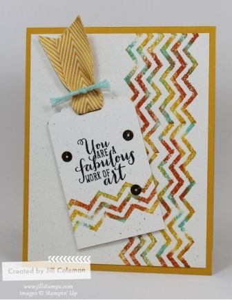 Work of Art Baby Wipe Stamping by jillastamps - Cards and Paper Crafts at Splitcoaststampers