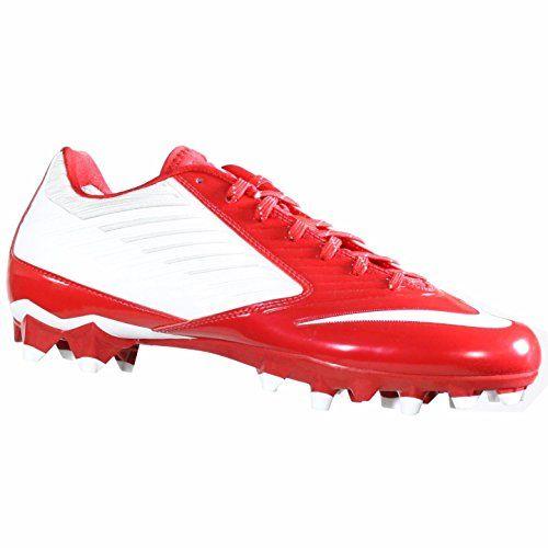 52f7501088c NIKE VAPOR SPEED LOW TD WHITEGAME RED MENS FOOTBALL CLEATS US 105 M EU 445