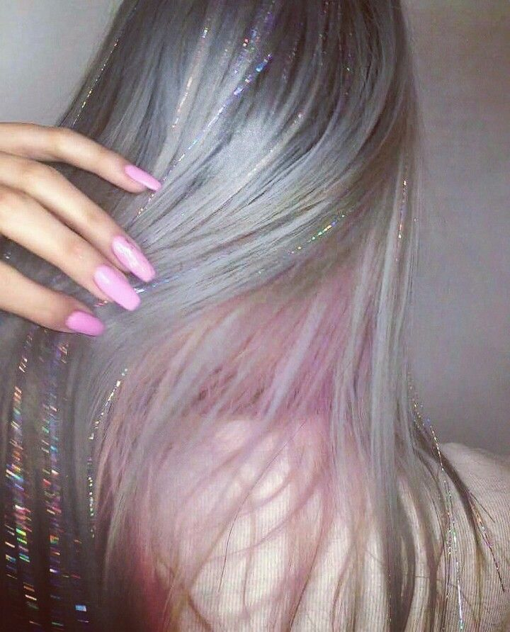 Hair tinsel and pink hair extensions from Kapello Hair SW. Call Danni on 07715945559.